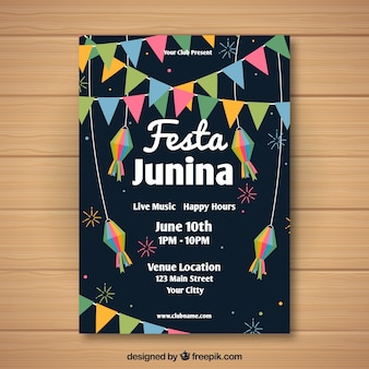 Шаблон шаблона dark festa junina