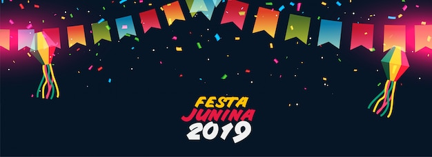Dark festa junina festival design