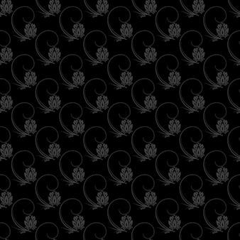 Бесшовный узор из темной цветочной природы. векторный фон