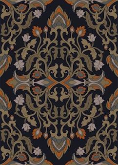 Dark floral pattern.