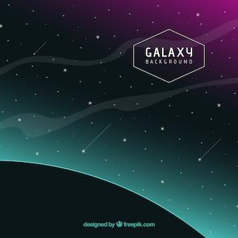 Sfondo scuro galassia con le stelle