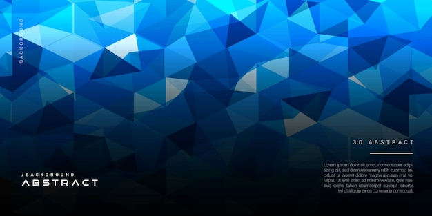 Dark geometric abstract polygon blue background