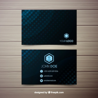 Dark geometric background business card