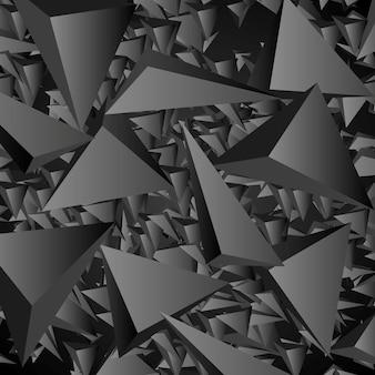 Темный геометрический многоугольный технический фон. векторный дизайн