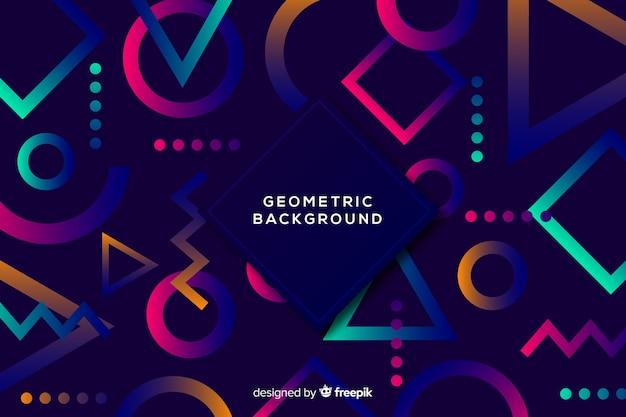 Dark geometric shapes background