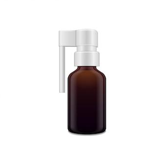 Темная стеклянная бутылка с распылителем для орального спрея.