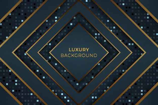 Dark golden blue luxury background vector