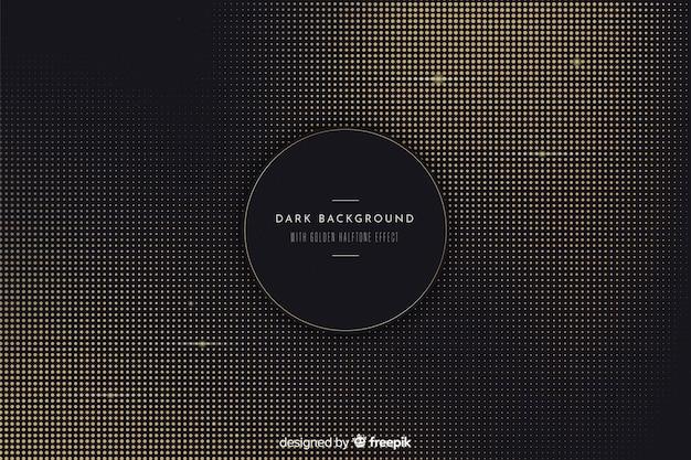 Dark and golden halftone background