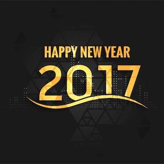 Dark and golden new year 2017 background