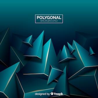 Dark and golden polygonal background