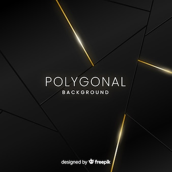 Dark and golden polygonal background