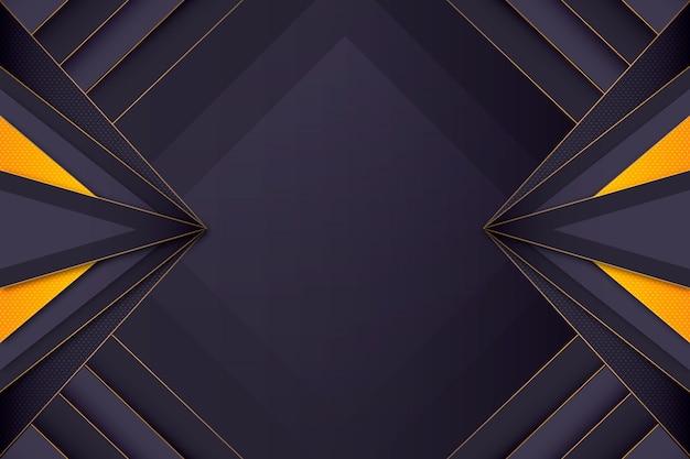 Dark gradient abstract wallpaper with golden details