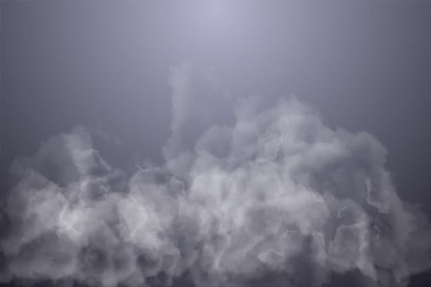 暗いグラデーションと煙のイラスト