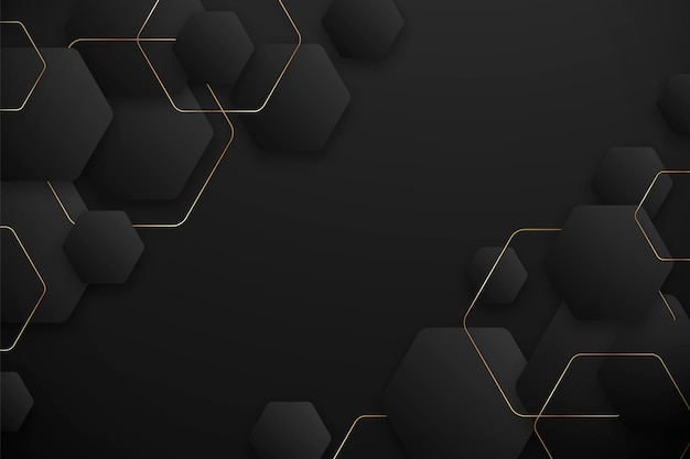 Dark gradient hexagonal background
