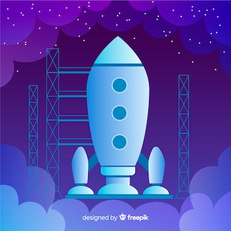 Dark gradient rocket background