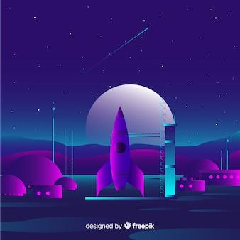 Dark gradient rocket background