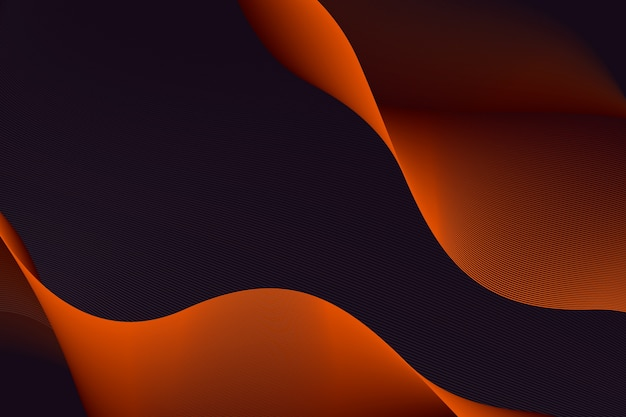 Dark graphic wavy background