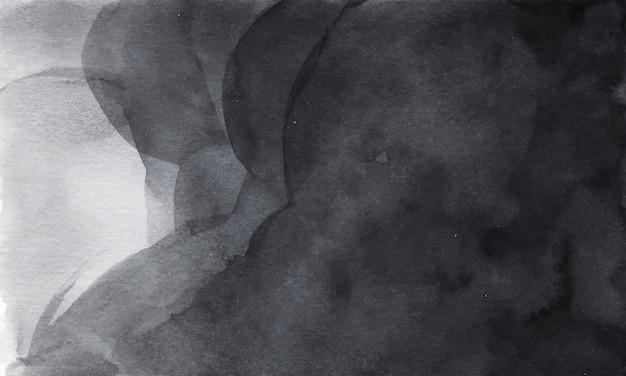 Темно-серая абстрактная акварель текстуры фона.