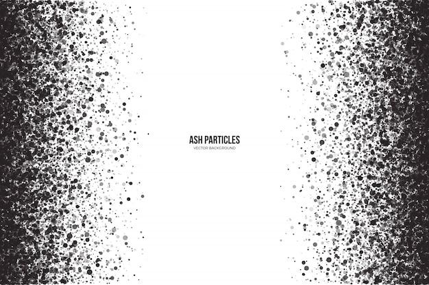 Dark gray ash particles grunge background