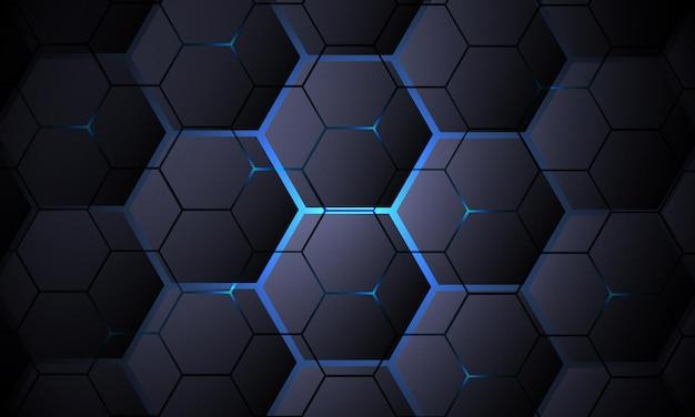 Dark gray hexagonal technology vector abstract background