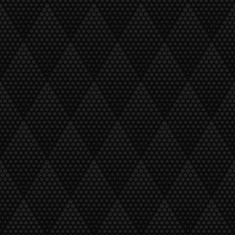 Dark gray rhombus halftone texture geometric seamless pattern