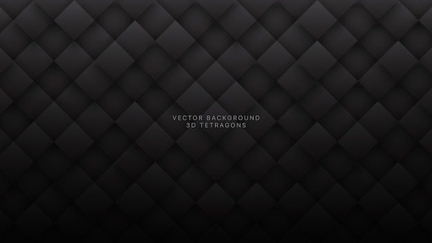 Dark gray rhombus technological abstract background