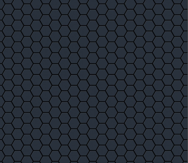Dark gray technology hexagon honeycomb seamless pattern