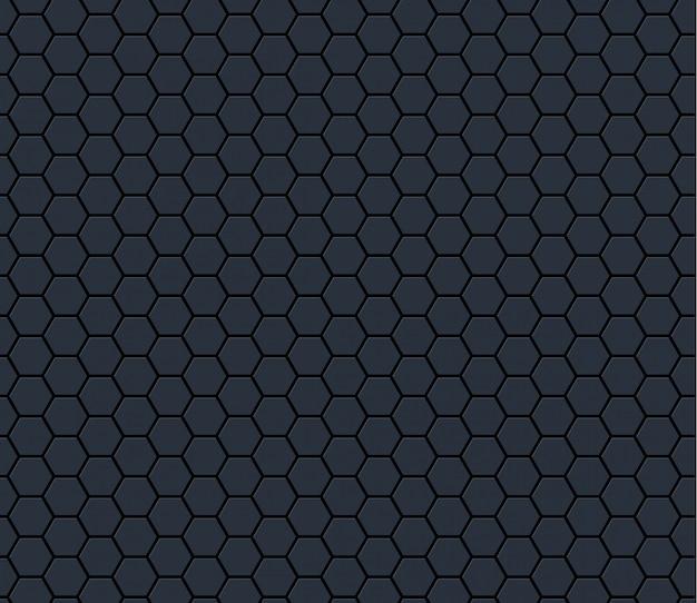 어두운 회색 기술 육각 벌집 원활한 패턴