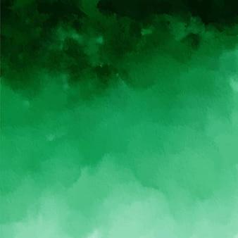 Темно-зеленый акварельный фон с текстурой омбре