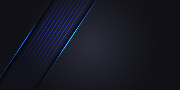 Dark grey abstract background with blue light line. luxury modern technology futuristic background.