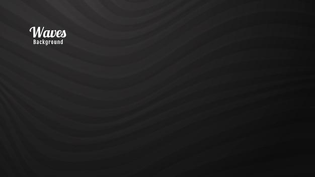 어두운 회색 파도 배경 디자인