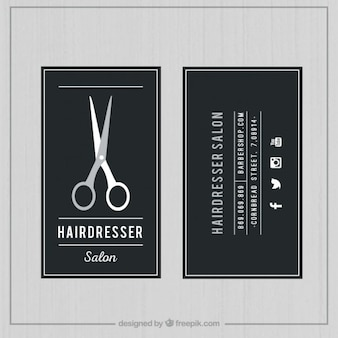 Scheda salone di parrucchiere scuro