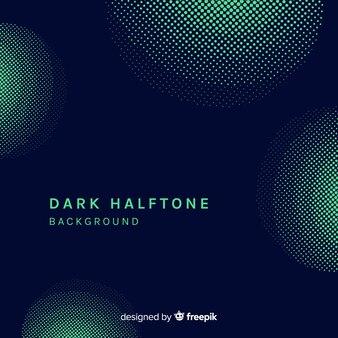 暗いハーフトーンの背景