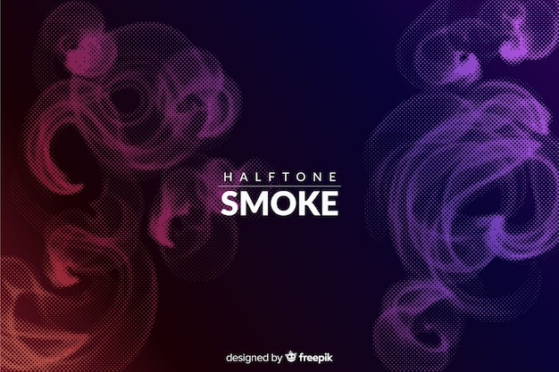 Dark halftone smoke background