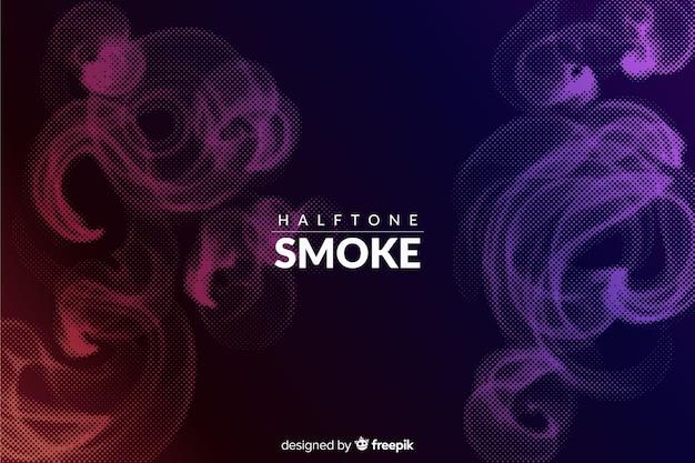 暗いハーフトーンの煙の背景