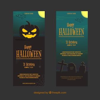 Темные баннеры хэллоуина
