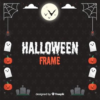 Dark halloween frame