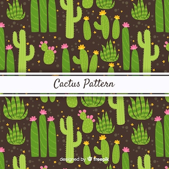 Dark hand drawn cactus background