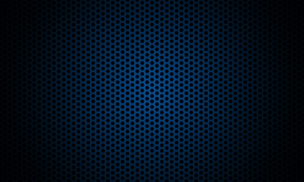 Dark hexagon carbon fiber texture. navy blue honeycomb metal texture steel background.