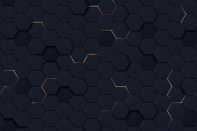 Dark hexagonal background with gradient color