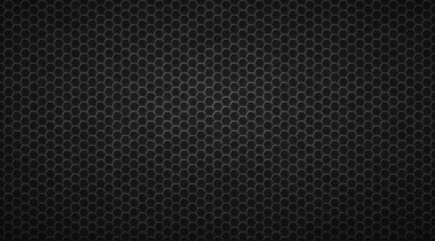 Dark honeycomb convex hexagons background