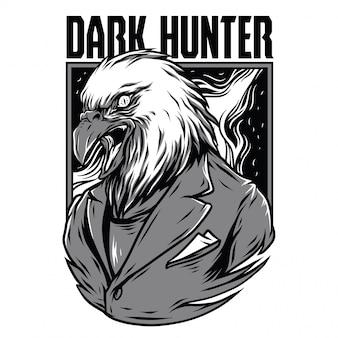 Dark hunter черно-белая иллюстрация