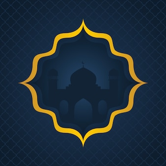 Dark islamic background