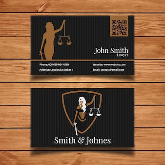Dark lawyer business card
