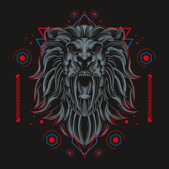 Dark lion sacred geometry