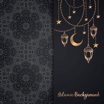 어두운 고급 이슬람 배경