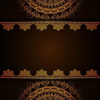 Dark luxury mandala background