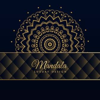 Dark luxury mandala pattern background