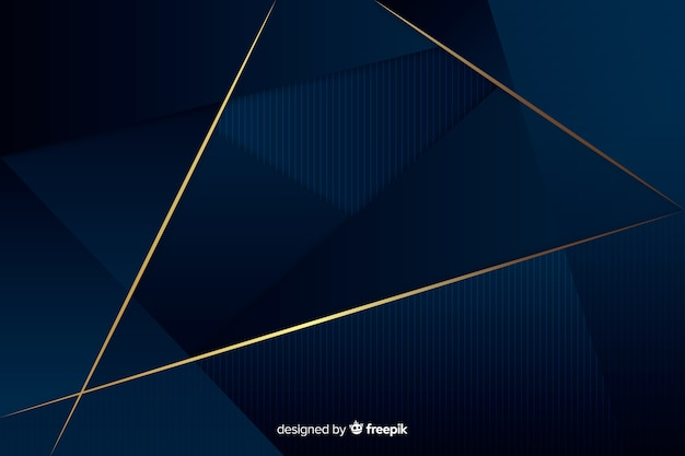 Dark luxury polygonal background