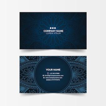 Dark mandala business card